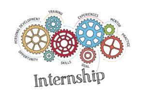 Gears showing parts of internship
