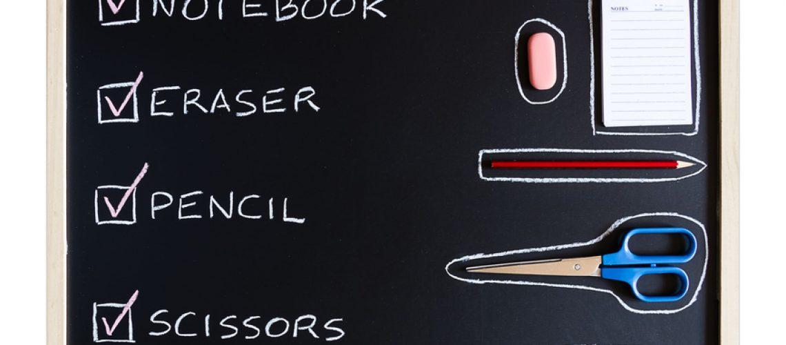 school list on blackboard